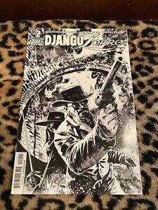 Django Zorro #2 Cover E Gabriel Hardman Black and White Variant Dynamite Vertigo