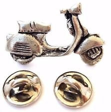 Vespa Scooter Handcrafted in Solid Pewter In UK Lapel Pin Badge