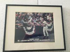 Cal Ripken Game 2131 Framed photo of Cal celebrating with Baltimore Oriole fans