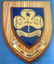 More details for vintage oak c1960 girl guide presentation patrol shield crest plaque