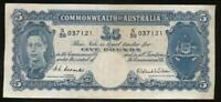 Australia, 1952 Five Pounds, £5, Coombs/Wilson, R48 - good Very Fine