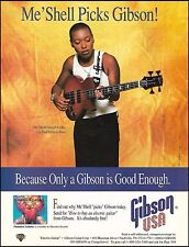 Me'Shell Ndegeocello Gibson Les Paul Deluxe Bass Guitar ad 8 x 11 advertisement