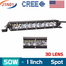 50W 11INCH Single Row CREE LED OFFROAD Light Bar Spot LAMP UTE 4WD Jeep 3D LENS