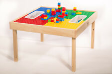 LEGO® & DUPLO® COMPATIBLE TABLE w/PLAY COVER & TWO BINS(PATENT)MADE IN THE USA