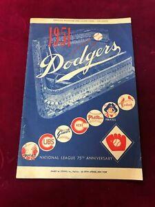 1951 Brooklyn Dodgers vs New York Giants Scorecard Program Unscored (PL1)