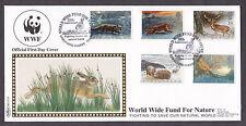 1992 WINTERTIME WILDLIFE SET OF 5 ON BENHAM BLCS70 WWF OFFICIAL FDC