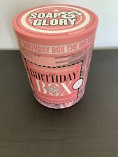 Soap & Glory The Birthday Box Gift Set with Full Size Shower Gel , Lotion & Poof