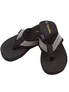 Women Strap Casual Thongs Flat Flip Flops Light Weight Sparkling Sandals Slipper