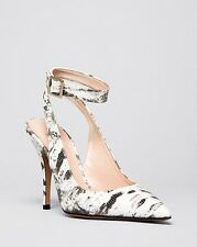 KATE SPADE NEW YORK Luminous High Heels White/Black Tejus Lizard Print 7 M