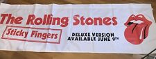 VERY RARE HUGE ROLLING STONES STICKY FINGERS PROMOTIONAL BANNER 10FT X 3 JAGGER