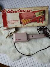 Vintage crimping tool Iron 80s Pink Crimper Windmere model wmc-1/334 *FLAW