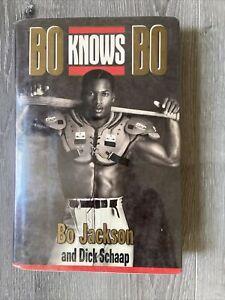 Bo Knows Bo 1990 Hardcover Bo Jackson & Dick Schaap Autographed 1st Ed. w/Jacket