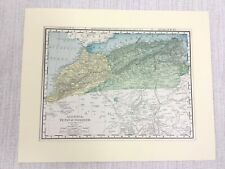 1901 Antique Map of Algeria Tunis Morocco North Africa Rand McNally & Co.
