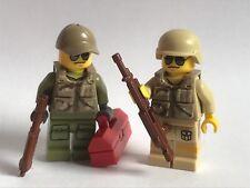 Original de piezas de Lego - 2 Soldados Modernos-Fuerzas Especiales + chalecos, arma personalizada