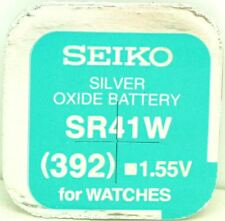 Seiko 392 (SR41W) Silver Oxide (0%Hg) Mercury Free Watch Battery Made in Japan