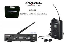 PROEL RM3000TR Trasmettitore + Ricevitore SISTEMA IN-EAR MONITOR WIRELESS CUFFIA