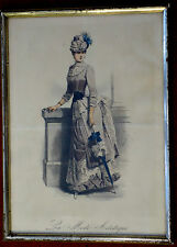 Stahlstich,koloriert, Damenmode, ca 1870.La Mode Artistique