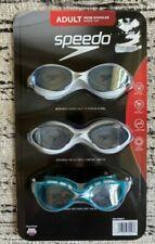 Speedo Goggles Adult 3 Pack Swim Swimming Diving UV Latex Free Anti Fog Unisex