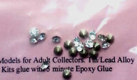 20 x 3mm white jewels for Scale Models Langley Models