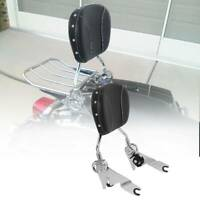 Detachable Backrest Sissy Bar Pad For Harley Road King Street Glide FLTRU 09-19