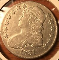 1831 Capped Bust Silver US Half Dollar
