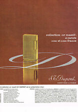 PUBLICITE ADVERTISING 054  1965  DUPONT   collection OR MASSIF  briquet 2