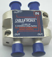 NEW CABLETRONIX 3-WAY  CTLBD-3P SATELIT SPLITTER 5-2300 MHz POWER PASS ALL PORTS