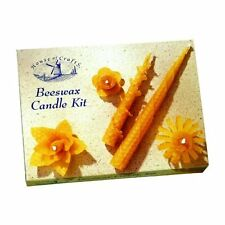House of Crafts Natural Beeswax Candle Making Kit 5 Sheets Rolled Coloured Wick