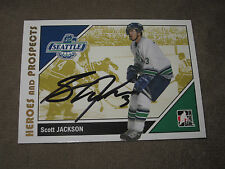 SCOTT JACKSON AUTOGRAPHED 2007-2008 ITG HEROES AND PROSPECTS CARD