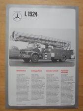 MERCEDES BENZ LAK 1924 & L 1924 Fire Fighting Vehicle 1974 Leaflet Brochure