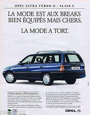 PUBLICITE ADVERTISING 095 1993 Opel Astra Turbo-D break