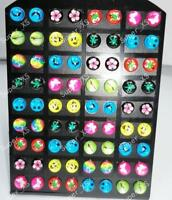 72pcs Resin & Stainless Steel Earrings Mix Wholesale Jewelry Lots