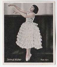 1930s German Dance Floors Of The World Tobacco card #024 Gertrud Muller