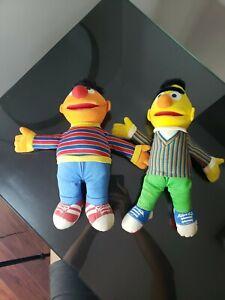 Vintage Bert And Ernie Stuffed Dolls Sesame Street Playskool Hasbro