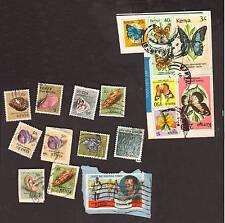 18 Vintage postage stamps loose world/foreign KENYA lot