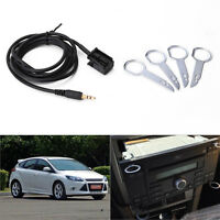 3.5mm Plug Aux Input Adapter Cable with Removal Keys Set for FORD FOCUS 6000CD