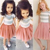 Kids Baby Girls Tutu Lace Dress Toddler Princess Party Sun Dresses Summer Casual
