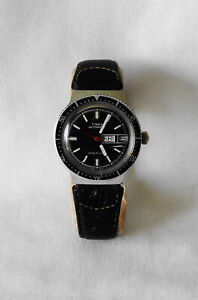 Vintage Men's Timex Automatic Diver's Wristwatch Day Date Feature Running