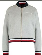 Tommy Hilfiger Grey Varsity Baseball  Bomber Jacket (Size XL) NEW WITH TAGS