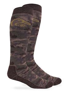 Ducks Unlimited Mens Camo 40% Merino Wool Heavyweight Tall Long Boot Socks