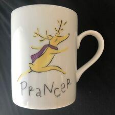 Pottery Barn Reindeer Prancer Christmas Holiday Coffee Tea Mug Cup Japan