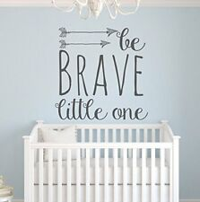 BE BRAVE LITTLE ONE Arrow Boys Girls Room Nursery Wall Decal Words Letters Decor
