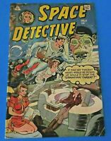 SPACE DETECTIVE #8 ~ L.W. ENTERPRISES SILVER AGE COMIC INDENTS ON COVER ~ VG