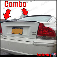 COMBO Spoilers Rear Roof Wing & Trunk Lip (Volvo S60/S60R 2001-2009) 284R/244L