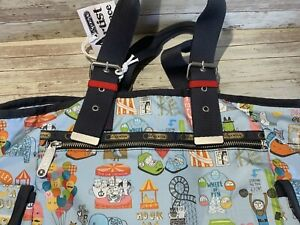 LeSPORTSAC ARTIST IN RESIDENCE KATE SUTTON CARNIVAL FAIR TOTE BAG NEW