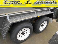 "10"" 1700mm tandem wheel steel mudguard car camper trailer 3 fold mud guard GD26"