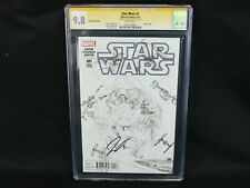 Marvel Comics Star Wars #1 3/15 Ross Sketch Cover Signed by Jason Aaron CGC 9.8