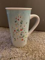 Starbucks Tall Green Christmas Tree Coffee Cocoa Mug Cup 2019 Holiday 16 oz