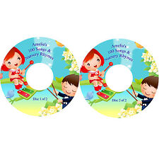 100 Nursery Rhymes & Children's Songs Sing-A-Long on 2 CDs Personalised Labels