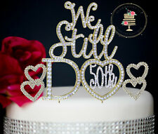 New 50th Wedding Anniversary Rhinestone Number Cake Topper SET party decoration